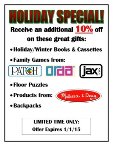Holiday Promo - Click to Enlarge
